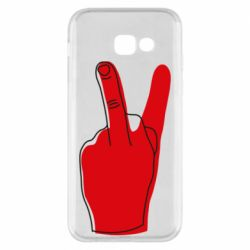 Чехол для Samsung A5 2017 Peace and middle finger