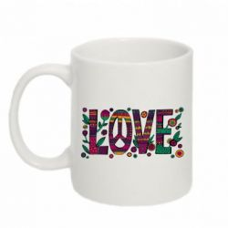 Кружка 320ml Peace love in patterns