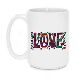 Кружка 420ml Peace love in patterns