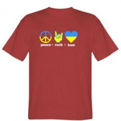 Мужская футболка Peace, Rock, Love - FatLine
