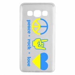 Чехол для Samsung A3 2015 Peace, Rock, Love - FatLine