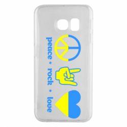 Чехол для Samsung S6 EDGE Peace, Rock, Love - FatLine