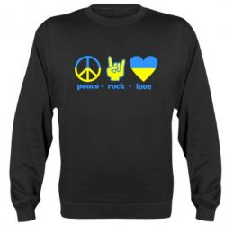 Реглан (свитшот) Peace, Rock, Love