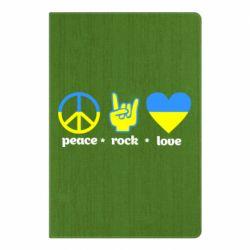 Блокнот А5 Peace, Rock, Love - FatLine