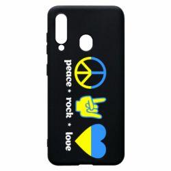 Чехол для Samsung A60 Peace, Rock, Love