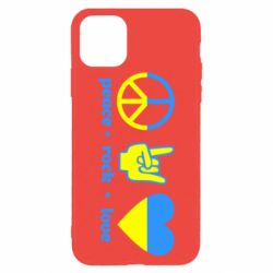 Чехол для iPhone 11 Pro Max Peace, Rock, Love