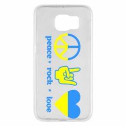 Чехол для Samsung S6 Peace, Rock, Love - FatLine