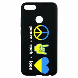 Чехол для Xiaomi Mi A1 Peace, Rock, Love - FatLine