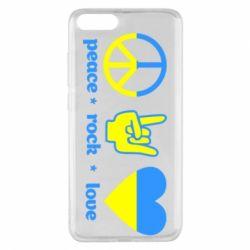 Чехол для Xiaomi Mi Note 3 Peace, Rock, Love - FatLine