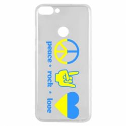 Чехол для Huawei P Smart Peace, Rock, Love - FatLine