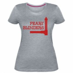 Жіноча стрейчева футболка Peaky Blinders and weapon