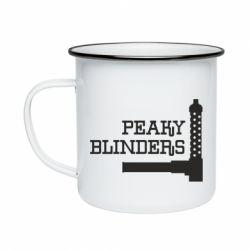 Кружка емальована Peaky Blinders and weapon