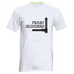 Чоловіча спортивна футболка Peaky Blinders and weapon