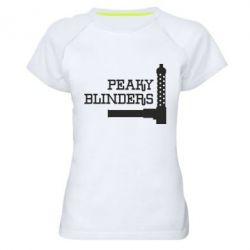 Жіноча спортивна футболка Peaky Blinders and weapon