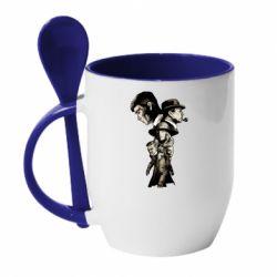Кружка з керамічною ложкою Peaky Blinders season 2
