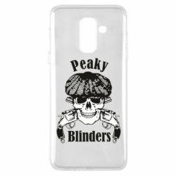 Купить Острые козырьки, Чехол для Samsung A6+ 2018 Peaky Blinders skull, FatLine