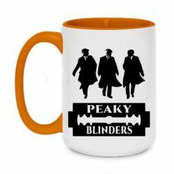 Кружка двоколірна 420ml Peaky Blinders
