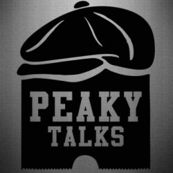 Наклейка Peaky talks
