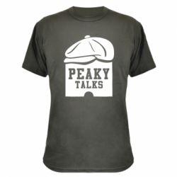 Камуфляжна футболка Peaky talks