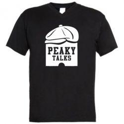 Чоловіча футболка з V-подібним вирізом Peaky talks