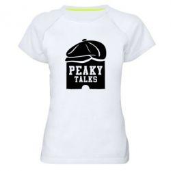 Жіноча спортивна футболка Peaky talks