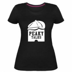 Жіноча стрейчева футболка Peaky talks