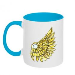 Кружка двоколірна 320ml Pearl and wing
