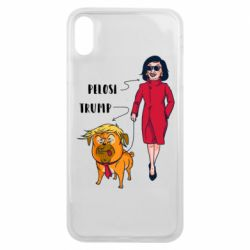 Чехол для iPhone Xs Max Pelosi and Trump