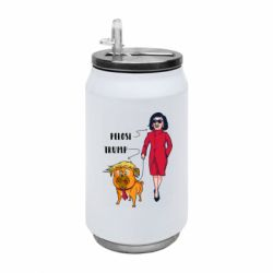 Термобанка 350ml Pelosi and Trump
