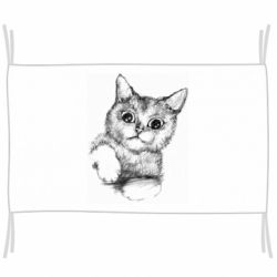 Флаг Pencil drawing of a kitten