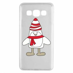 Чехол для Samsung A3 2015 Penguin in the hat and scarf