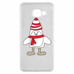 Чехол для Samsung A3 2016 Penguin in the hat and scarf