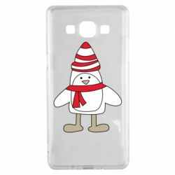 Чехол для Samsung A5 2015 Penguin in the hat and scarf