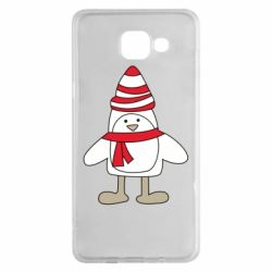Чехол для Samsung A5 2016 Penguin in the hat and scarf