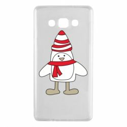 Чехол для Samsung A7 2015 Penguin in the hat and scarf