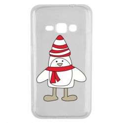 Чехол для Samsung J1 2016 Penguin in the hat and scarf