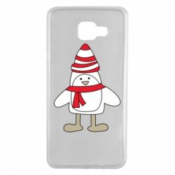 Чехол для Samsung A7 2016 Penguin in the hat and scarf