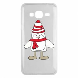 Чехол для Samsung J3 2016 Penguin in the hat and scarf