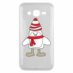 Чехол для Samsung J5 2015 Penguin in the hat and scarf