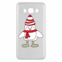 Чехол для Samsung J5 2016 Penguin in the hat and scarf