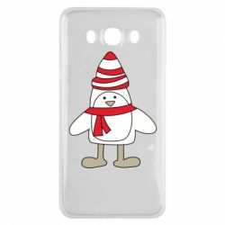 Чехол для Samsung J7 2016 Penguin in the hat and scarf