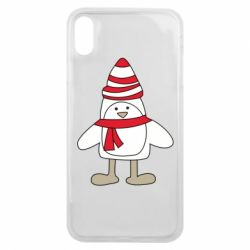 Чехол для iPhone Xs Max Penguin in the hat and scarf