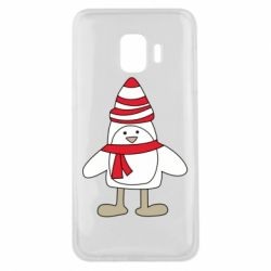 Чехол для Samsung J2 Core Penguin in the hat and scarf