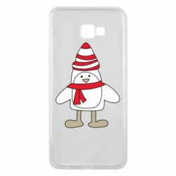 Чехол для Samsung J4 Plus 2018 Penguin in the hat and scarf