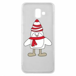 Чехол для Samsung J6 Plus 2018 Penguin in the hat and scarf