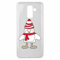 Чехол для Samsung J8 2018 Penguin in the hat and scarf