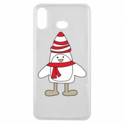Чехол для Samsung A6s Penguin in the hat and scarf