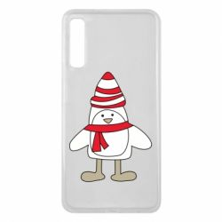 Чехол для Samsung A7 2018 Penguin in the hat and scarf