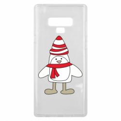Чехол для Samsung Note 9 Penguin in the hat and scarf