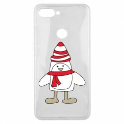 Чехол для Xiaomi Mi8 Lite Penguin in the hat and scarf